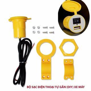 Đầu sạc điện thoại tự lắp (DIY) gắn trên xe máy đầu vào 12V ra 5V1.5A [Thao2] Dũng thumbnail