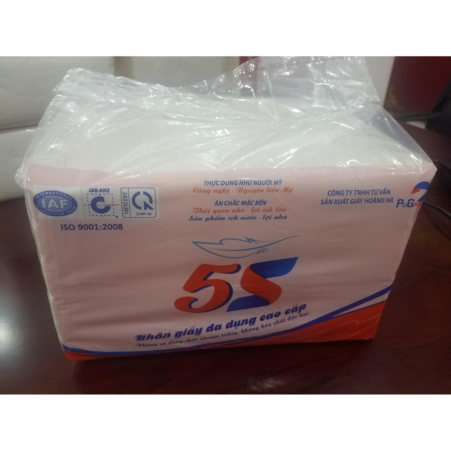 Khăn giấy khô đa năng 5S cao cấp 2 lớp 32x32 800g