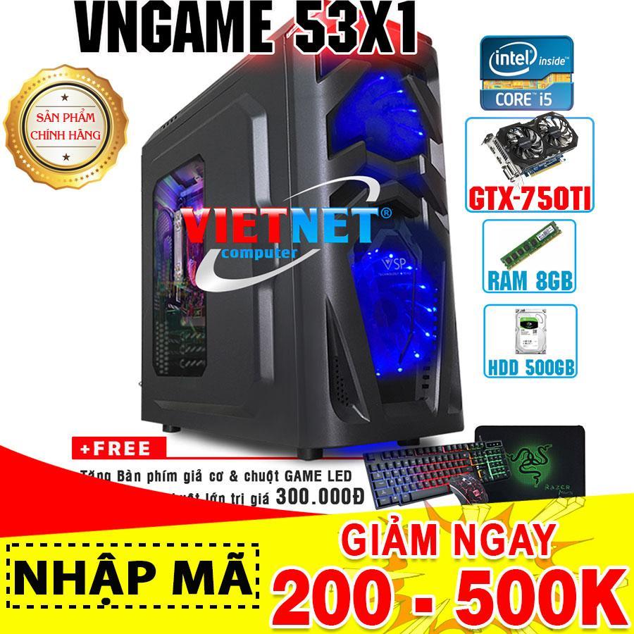 Máy tính chơi game VNgame 53X1 i5 3470 GTX750Ti 2 Fan RAM 8GB 500GB (chuyên LOL, GTA 5, PUBG, Overwatch, Fifa)