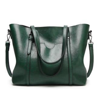 Soft Leather One-Shoulder Big Book Bags Female 2020 New Style Korean Style Versatile Large Capacity Shoulder Handbag WOMEN S Leather Bags thumbnail