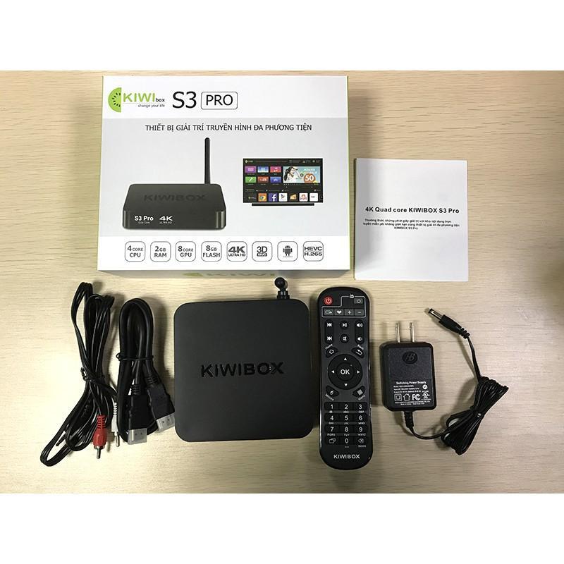 Mua android tv-  Android box Kiwi s3 Pro, Tiện lợi, Giao diện thông minh -Gia dau smart box, Gia dau smart box - Sale Off 50%