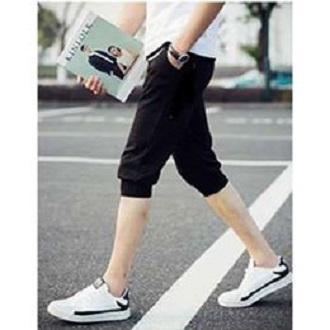 quần short thun nam bo ống thời trang phong cách hàn quốc ( đen )