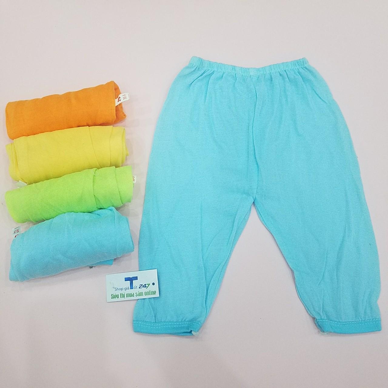 Set 5 quần dài thu đông trơn cho bé trai bé gái
