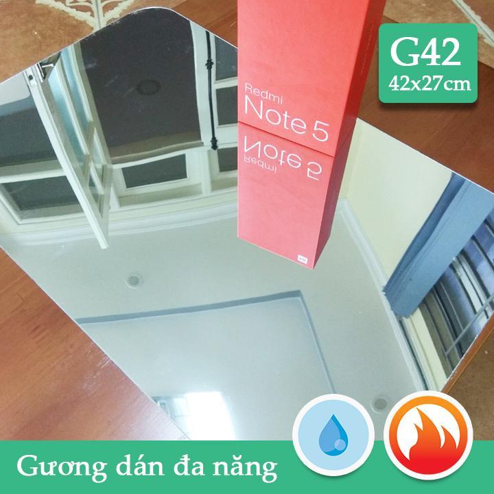 Gương dán nhà tắm,tủ gỗ CN dầy 1mm soi nét căng G42 42x27cm