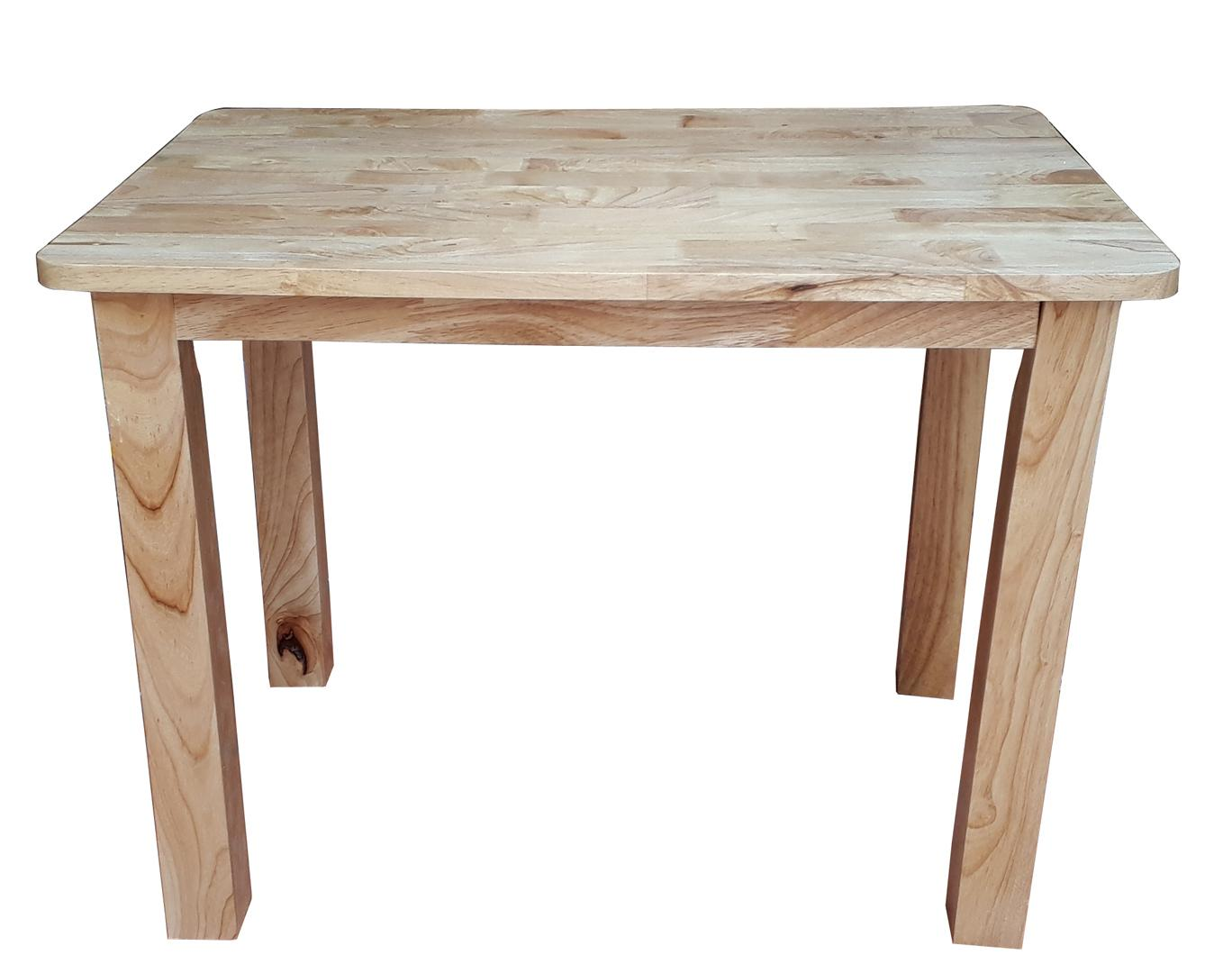 Bàn cafe chân vuông cao 52cm bằng gỗ (Tự nhiên)