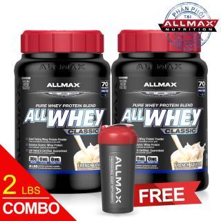 Set 2 hộp thực phẩm bổ sung whey protein cao cấp ALLMAX ALLWHEY CLASSIC VANILLA thumbnail