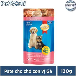 Thức ăn cho chó con dạng sốt Smartheart vị gà 130g thumbnail