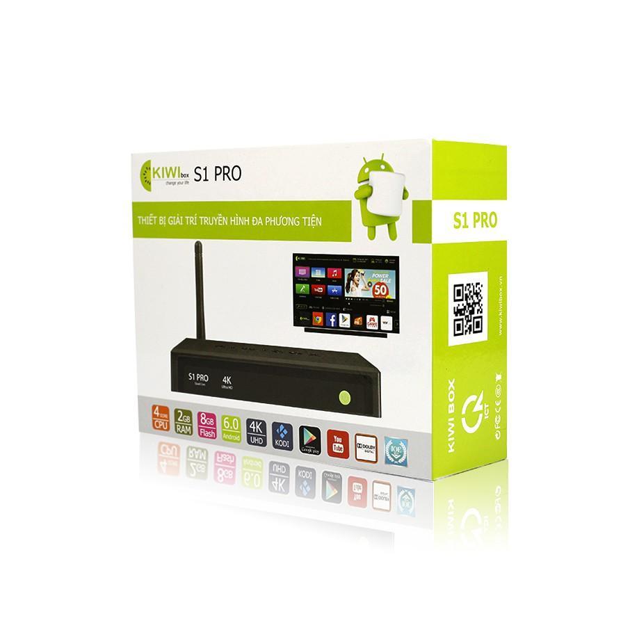 Box android-  Android box Kiwi s3 Pro, Tiện lợi, Giao diện thông minh -Biến tv thường thành smart tv, Biến tv thường thành smart tv - Sale Off 50%