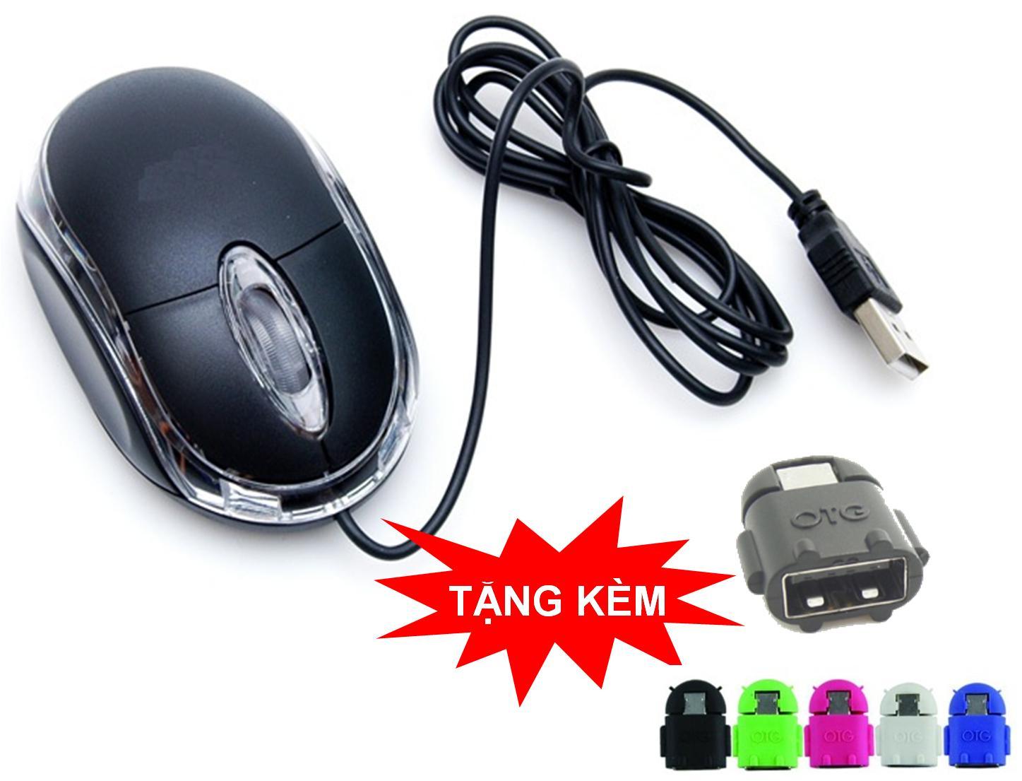 Chuột quang IC8733 chân USB + Tặng cổng OTG MiniOn