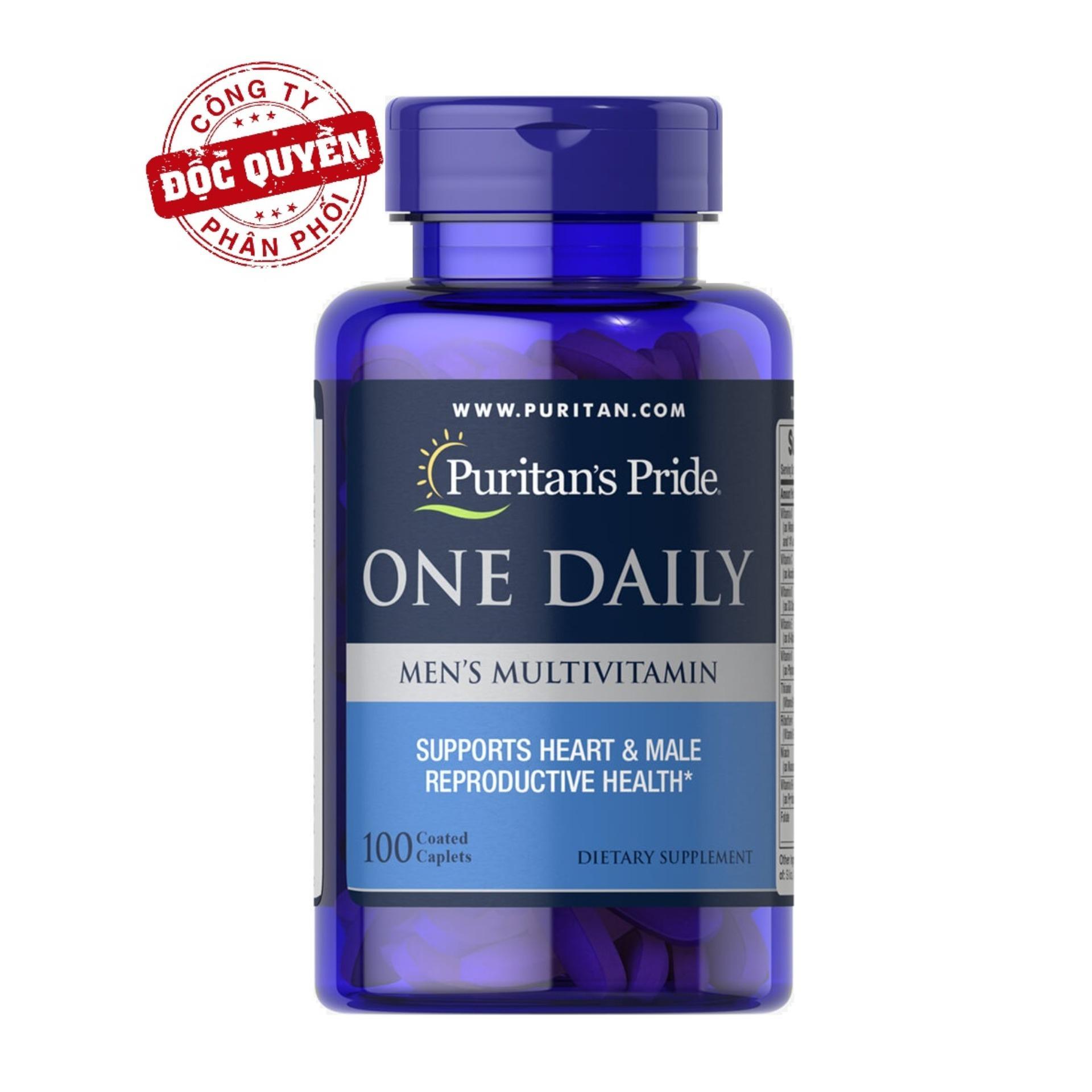 Sales 85% Tăng cường sức khỏe cho nam giới ( HSD: 30/5/2021) Vitamin và khoáng chất cho nam giới Puritan's Pride One Daily Men's Multivitamin 100 viên