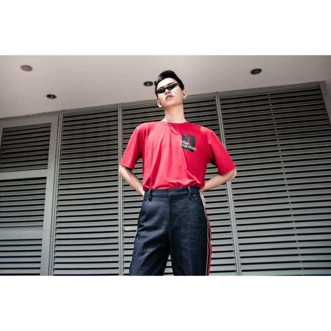 áo thun nam đỏ key REGEM