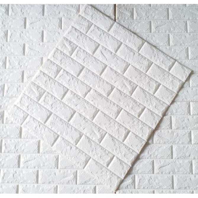 Xốp Dán Tường Giả Gạch LOẠI 1 (Dày 7mm) 70x77cm (Màu Trắng), Xốp dán tường 3D, Miếng xốp dán tường giả gạch, Tấm xốp dán tường, Xốp dán tường cách âm, Miếng xốp dán tường 3D - Mẹ và Bé Kids Home