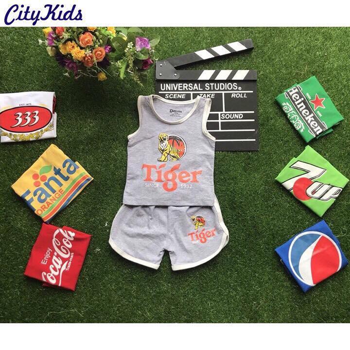 Bộ quần áo nước giải khát cực kỳ đáng yêu cho bé từ 1-5 tuổi.