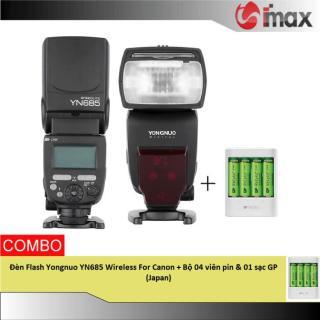 Đèn Flash Yongnuo YN685 Wireless For Canon + Bộ 04 viên pin & 01 sạc GP (Japan) thumbnail