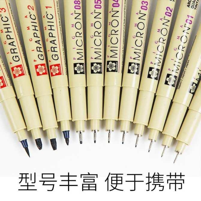 Hình Ảnh Nghệ Thuật Chính Hãng Sakura Bút Ngòi Kim Truyện Tranh Bút Chổi  Lông