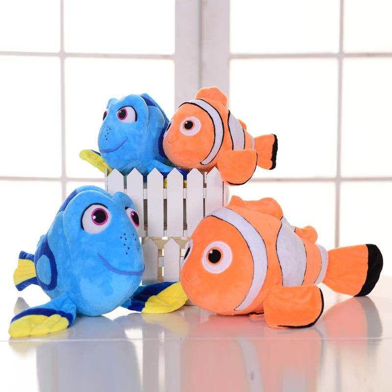 2pcs/lot Dory+Nemo Plush Fish Clownfish Nemo Stuffed & Plush Animals Toys