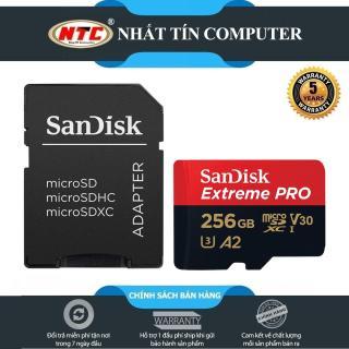 Thẻ nhớ MicroSDXC SanDisk Extreme Pro V30 U3 4K A2 256GB R170MB s W90MB s (Đen đỏ) - Nhất Tín Computer thumbnail