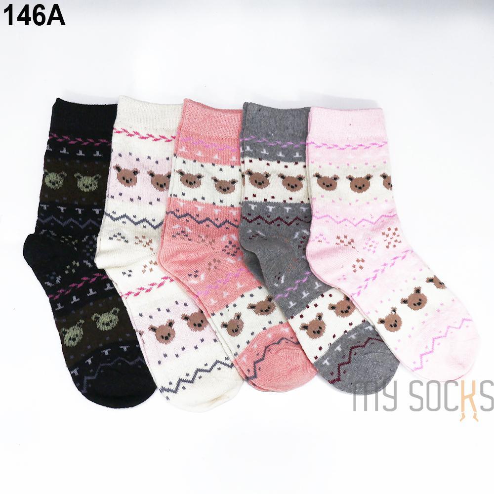 Phụ kiện giày vớ nữ len cao cổ (5 đôi) Vớ Store - A146