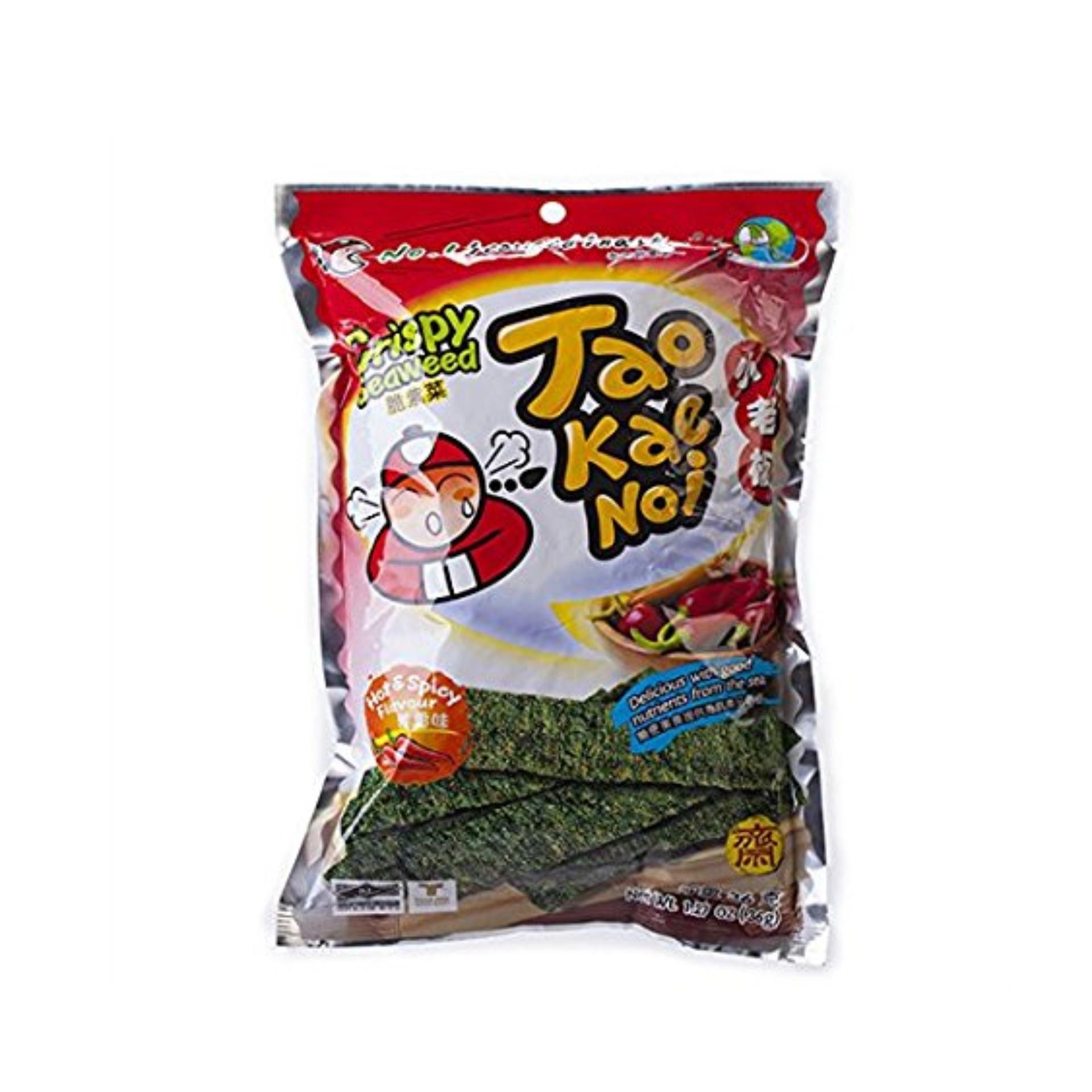 Snack Rong biển Taokaenoi Sấy Crispy Seaweed vị Cay 15g