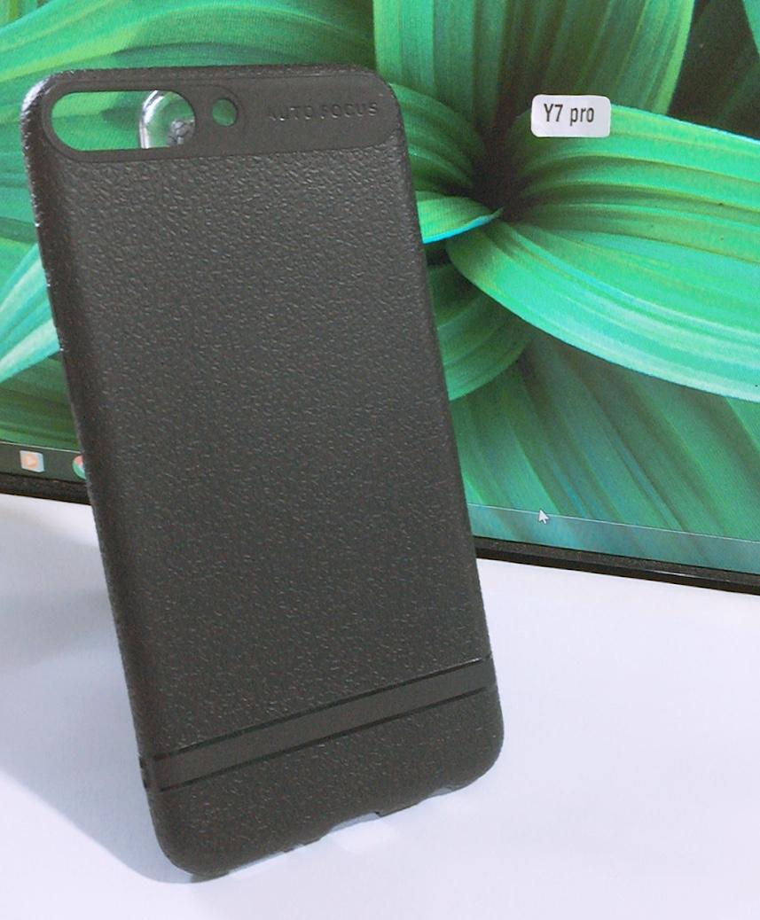 Ốp lưng dẻo màu cao cấp AutoFocus cho Huawei Y7 Pro 2018 (Màu đen)