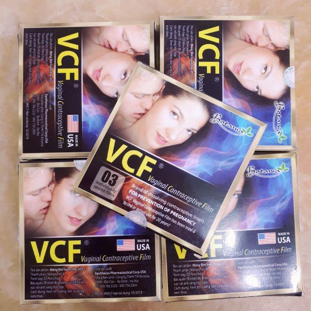 Màng phim tránh thai VCF- ( Hộp 3 cái Sx tại Mỹ)