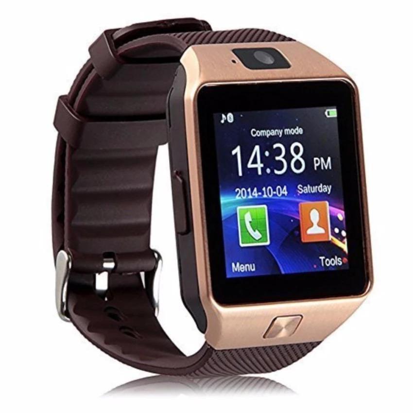 Đồng hồ thông minh gắn sim độc lập Smart Watch DZ09 (Vàng)