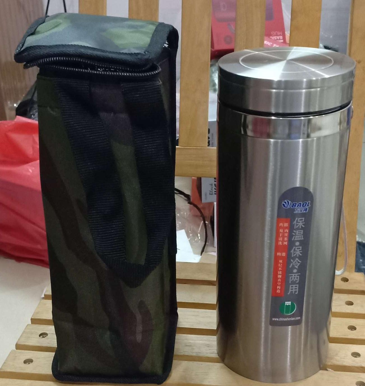 Bình Giữ Nhiệt Tối Ưu 1200ml Chất liệu inox và thiết kế chắc chắn Giữ nhiệt tốt + Túi Đựng Bình(Combo)