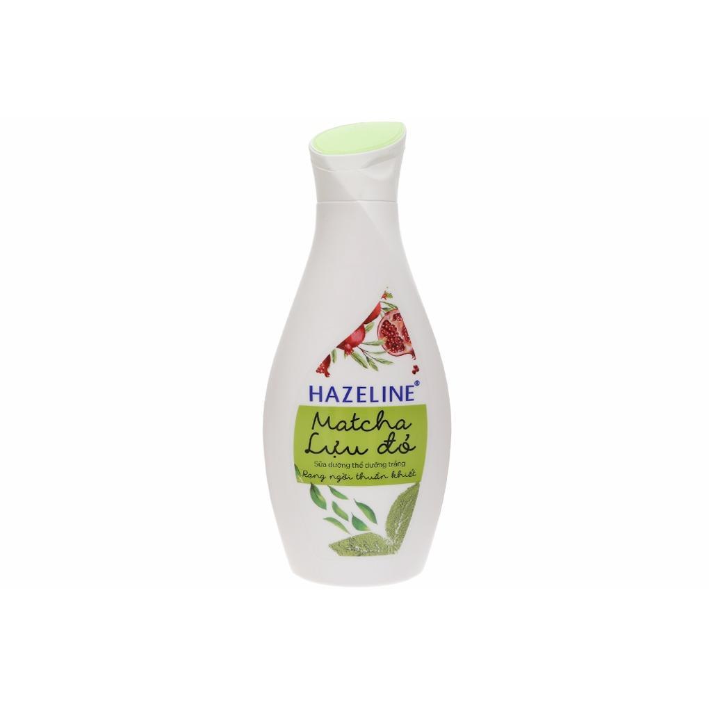 Sữa dưỡng thể trắng da Hazeline Matcha và lựu đỏ chai 230ml