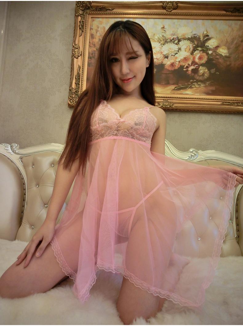 Áo Đầm Ngủ Kèm Quần Gợi Cảm Ren Phối Von Cdan01 (Hồng Phấn)