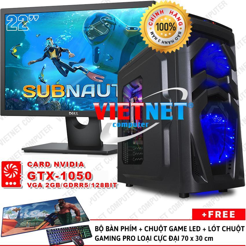Máy tính game khủng G4600 card GTX-1050 RAM 8GB 500GB + LCD Dell 22 inch VietNet (chiến game Witcher 3, Subnautica, GTA 5, Batterground, LOL, Fifa v.v...)