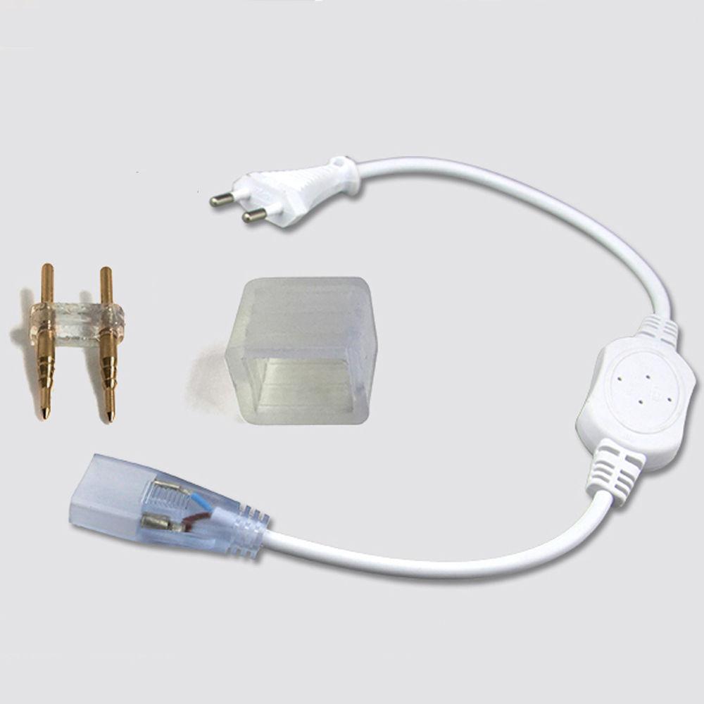 Bộ 2 đầu nối dây nguồn cho đèn LED dây 220V