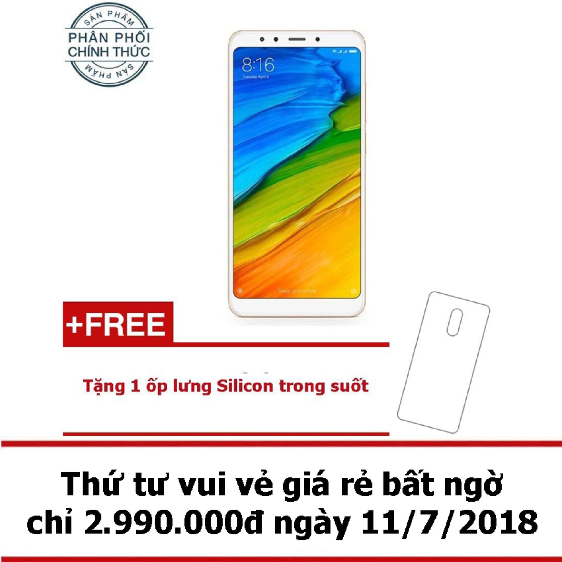 Xiaomi Redmi 5 32GB Ram 3GB (Vàng) - Hãng phân...