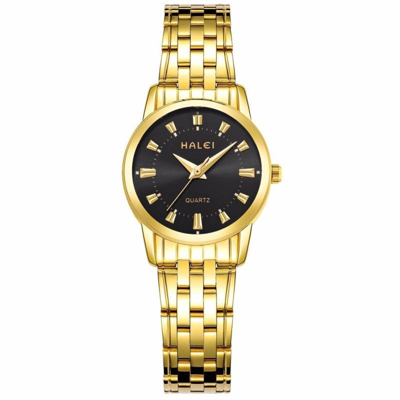 Đồng hồ nữ HaLei HL93 chống nước - Mặt màu đen