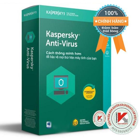 Phần mềm diệt virus máy tính Kaspersky Anti-Virus 1PC box (bản quyền 1 năm)