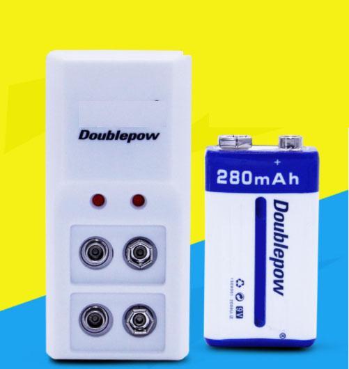 Combo sạc pin 9V và pin 280mAh DoublePow cao cấp