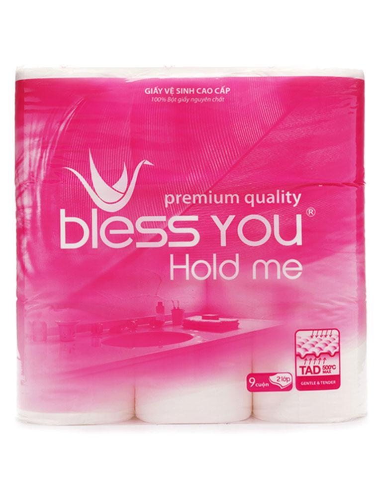 Giấy Vệ Sinh Bless You Hold Me 9 Cuộn X 2 Lớp