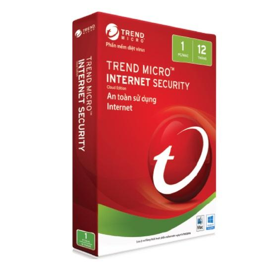 Phần mềm diệt virus trend micro internet