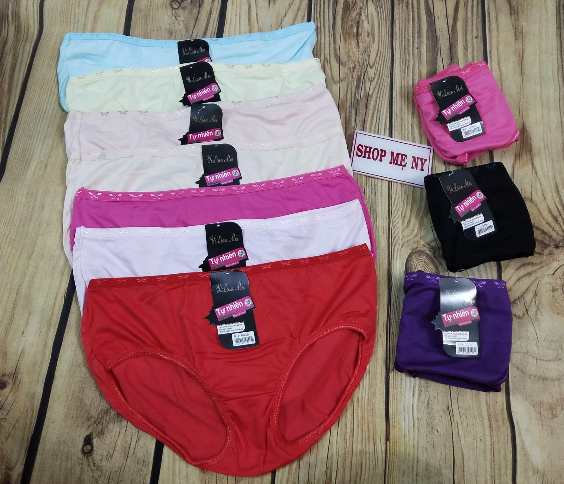 Bộ 2/5/10 quần lót nữ cotton lưng chuồn chuồn siêu đẹp size dưới 55kg (sx Việt Nam)