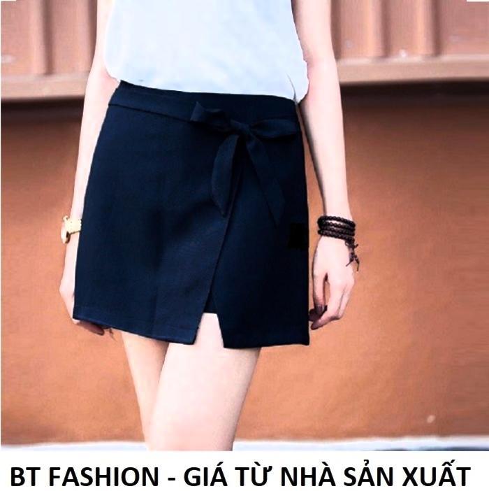Quần Sọt Đùi Nữ Giả Váy Thời Trang Hàn Quốc Mới - BT Fashion (VA01-Nơ Bên)