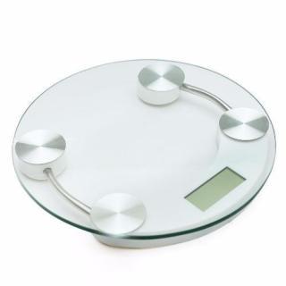 Cân sức khỏe điện tử 33 cm (kính trong suốt) kính cường lực tròn trắng thumbnail