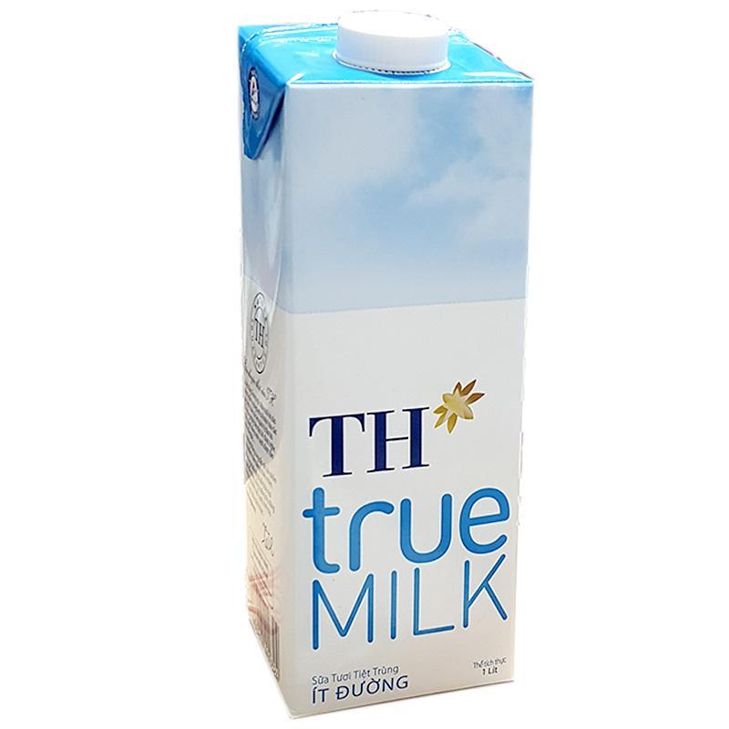 Sữa tiệt trùng ít đường TH hộp 1 lít