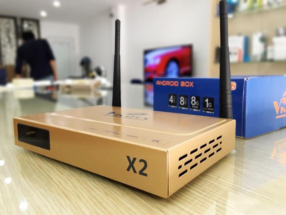 Tivi android, Android Tv box Vinabox X2 Ram 1G Rom 8G hỗ trợ voice reserch giá tốt   Bảo hành 12 tháng uy tín   MS:156