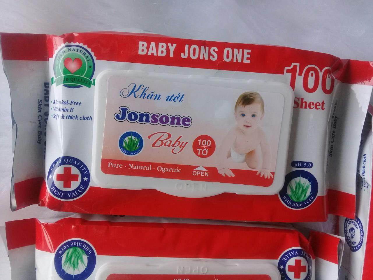 KHĂN ƯỚT JONSONE BABY 100 TỜ