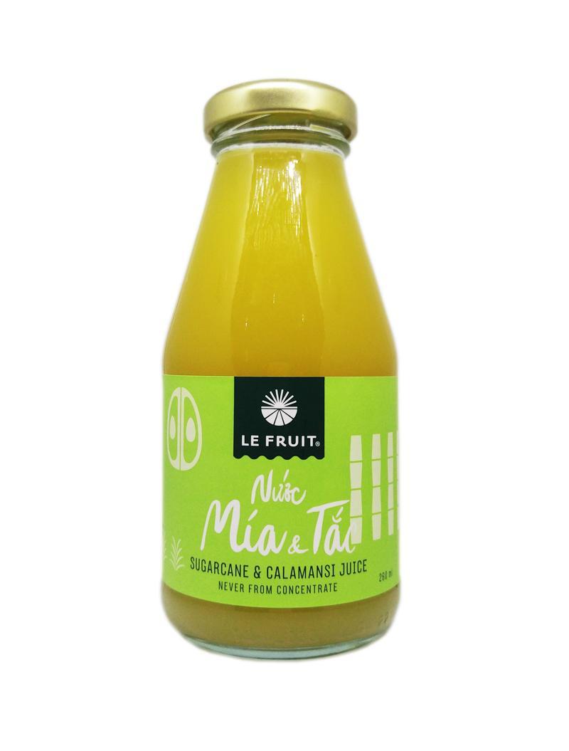 Nước mía tắc Le Fruit chai thủy tinh (260ml)