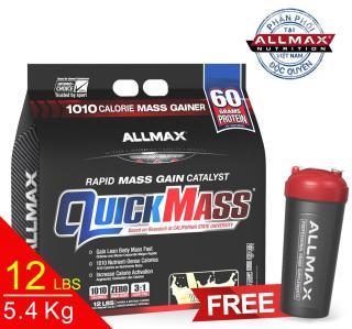 [THỰC PHẨM DINH DƯỠNG THỂ THAO] Whey Protein Tăng Cân Allmax Quickmass Vanilla 12 Lbs (5.45kg) thumbnail