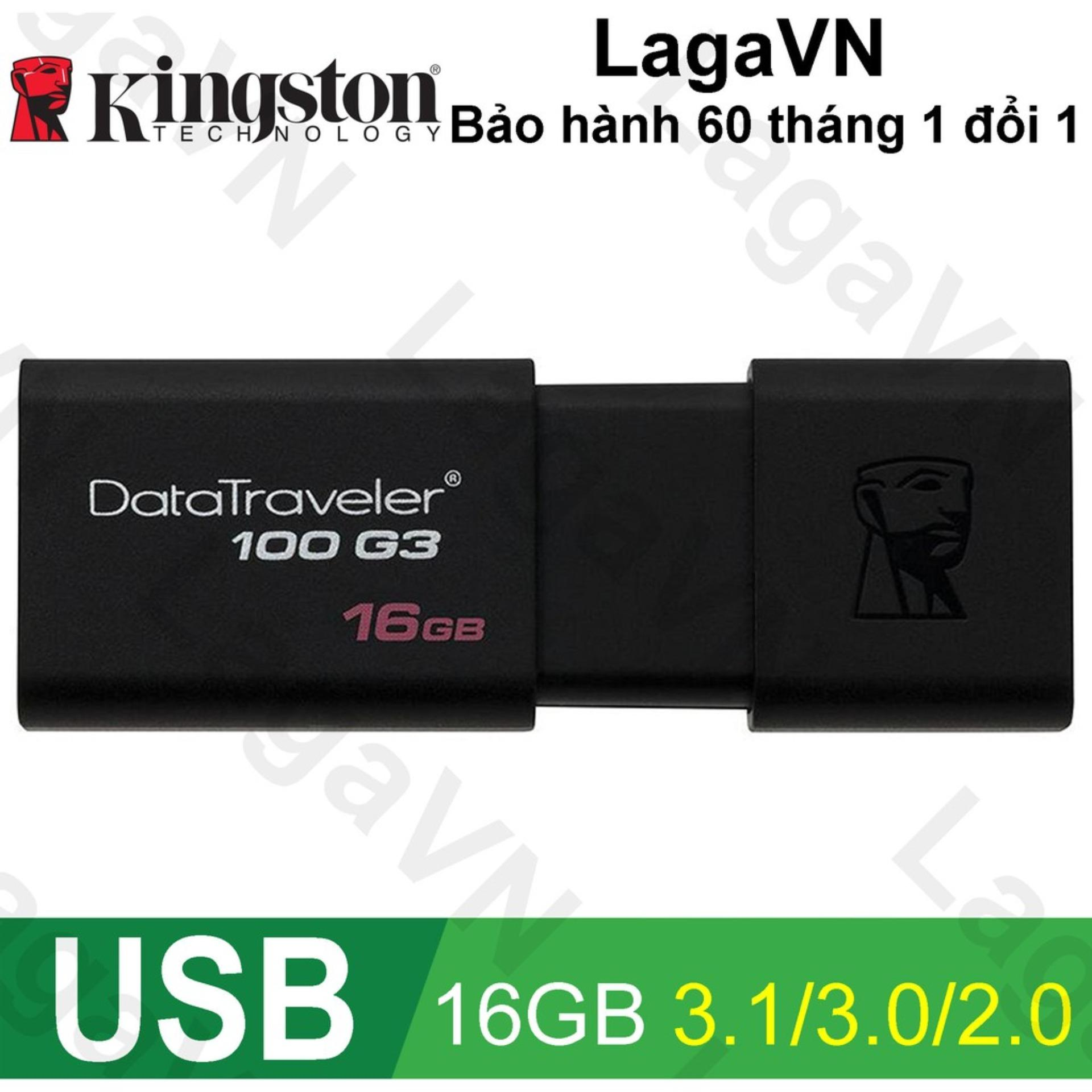 USB Kingston 16GB 3.0 Data Traveler DT 100 G3 - Chính thức
