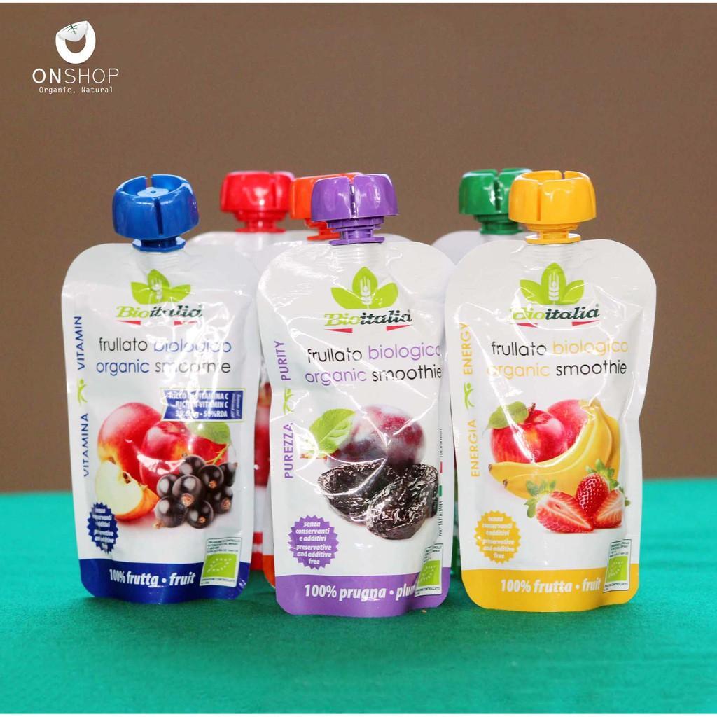 Smoothie Puree Trái cây nghiền hữu cơ 6 vị Bioitalia 120g-Táo