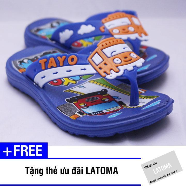 Dép xỏ ngón bé trai TAYO cao cấp Latoma TA1214 (Xanh dương nhạt)+ Tặng kèm thẻ ưu đãi Latoma