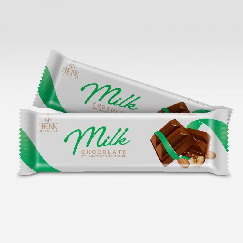Socola thanh 40g nhân hạt  | Henk Chocolate