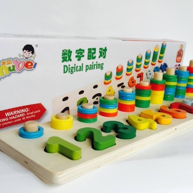 Giáo cụ Montessori Bộ đồ chơi học chữ số kèm...